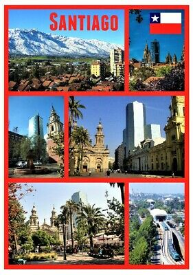 Santiago,chile, South America - Souvenir Novelty Fridge Magnet - Sights / Gifts