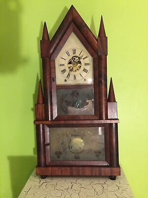 Birge and Fuller Double Decker Double Steeple Clock
