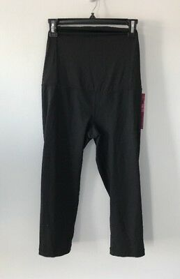 New Women's Maternity Capri Yoga Pants BeMaternity Active NWT Size L
