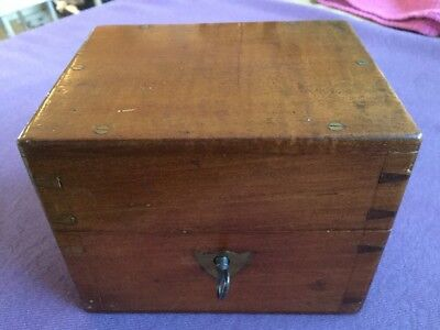 Mahogany Dovetailed Instrument Box Possibly Medical