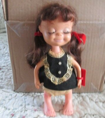 A Vintage 1967 Uneeda 8 Inch Doll With Closed Eyes