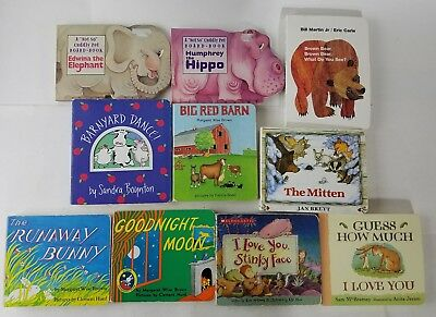 Chucky Board Books For Baby, Toddler Lot of 10, Big Red Barn, Hippo, Elephant