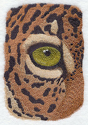 """Jaguar Eye, Wild Animal, Exotic Cat Embroidered Patch 4.6"""" x 6.8"""""""