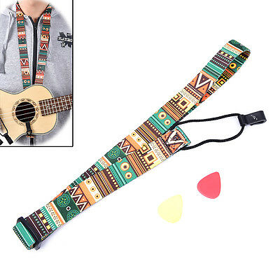 Adjustable Nylon Printing Style Ukulele Strap Ukulele guitar Accessories LTUS