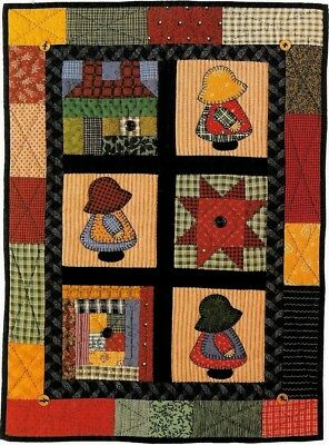 Sunbonnet Sue Sampler & Follow The Leader (Overall Bill)  Wall Quilt Patterns