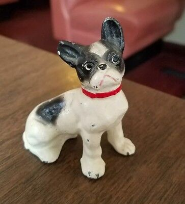 "Antique Hubley? Cast Iron French Bulldog Paperweight 3""h"