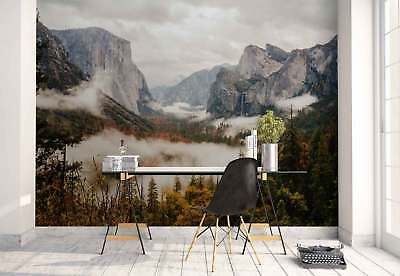 Mountains Forest Landscape  Photo Wallpaper Wall Mural (FW-1073)