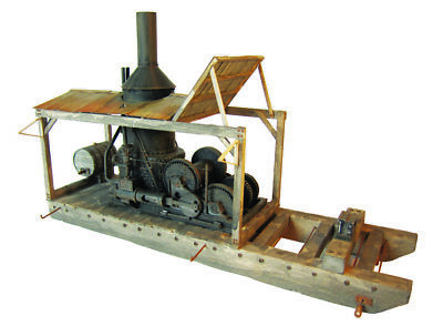KMP Models - S Scale Craftsman Kit - Humbolt Steam Donkey Loader - Logging - New