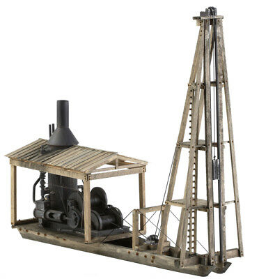 KMP Models - S Scale Craftsman Kit - Pile Driver w/ Steam Donkey - Logging - New
