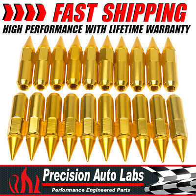 60mm 20PCS M12X1.5 Cap Spiked Extended Tuner Aluminum Wheels Rims Lug Nuts New