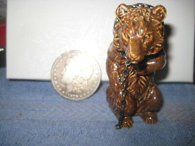 English P0Ttery And Sterling  Chain With Bear For Pepper