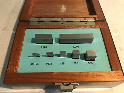 Brown and Sharpe STEEL gauge/gage block set 7 piece through 2""