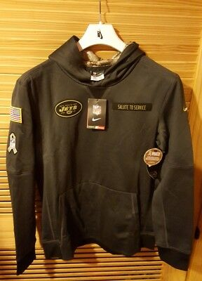 Nike NFL New York Jets Salute to Service OnFIELD Authentic Hoodie Yth L 14/16