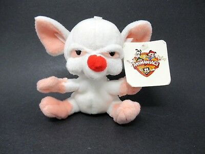 "Animaniacs The Brain 5"" Plush Keychain Pinky and The Brain 1999 Jaclyn With Tag"