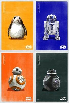 STAR WARS The Last Jedi Character Art Posters (SET A)(SET OF 4)