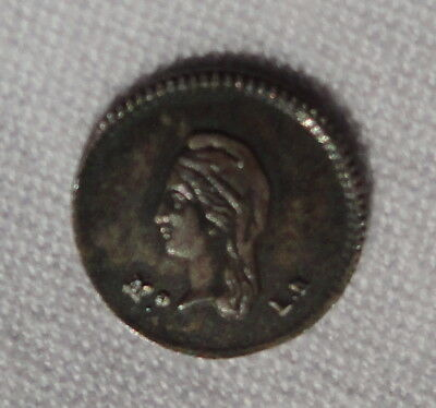 1845 Mexican 1/4 Reale Coin