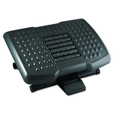 Kantek Premium Adjustable Footrest with Rollers, 4 to 6.5 Inch Height, Black...
