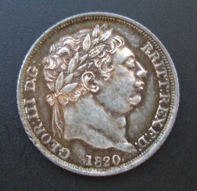 GEORGE III 1820 SIXPENCE, Spink 3791, ESC 2205 Listed as Scarce. High Grade