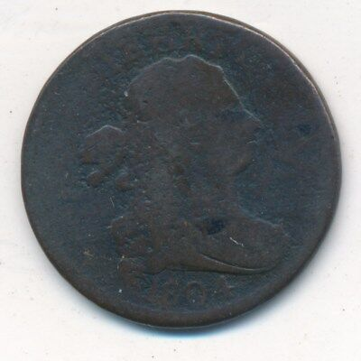 1804 Draped Bust Half Cent-Nice Circulated Early Type Coin-Ships Free! Inv:3