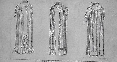 Antique STANDARD FASHION CO SEWING PATTERN #7952~INFANT Dress OSZ Circa 1900