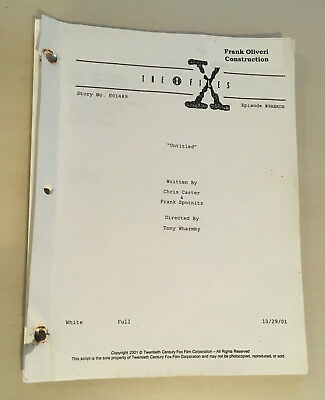 THE X-FILES PRODUCTION-USED PARTIAL 50-PAGE TRUST NO 1 SCRIPT!!! Incomplete
