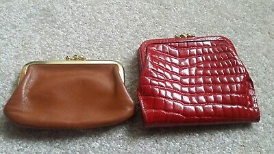 Pair of vintage St. Thomas coin purse and wallet.