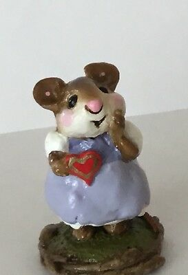 Wee Forest Folk Sweetheart ❤️ RED HEART Sweet Vintage Valentine Mouse By Annette