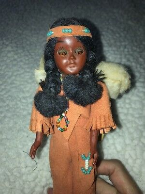 Vintage 8 inch American Indian Women with Blackfoot Chief  12-5 by Carlson Dolls