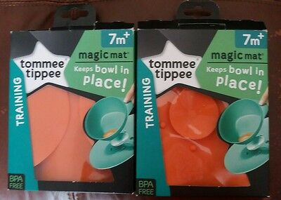 Twins New Tommee Tippee EXPLORA Magic Mat Suction for Bowls, Anti Spill, x 2