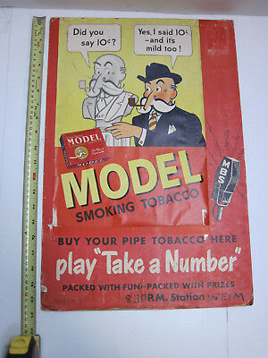 1943 Model Smoking Tobacco advertising 10 cents Buy Here Play Take a Number WEIM