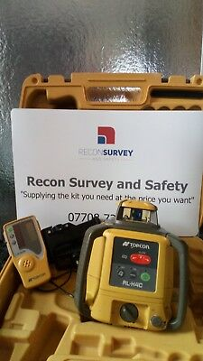 Topcon RLH4C self levelling Rotating laser level rechargeable with detector...
