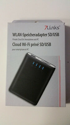 7Links WiFi Private Mobile Cloud Drive WLAN Speicheradapter für SD/USB Neuwertig