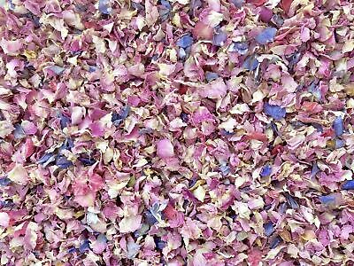 50 Guests x Biodegradable Wedding Confetti Pink Rose Mix Petals Dried Flowers
