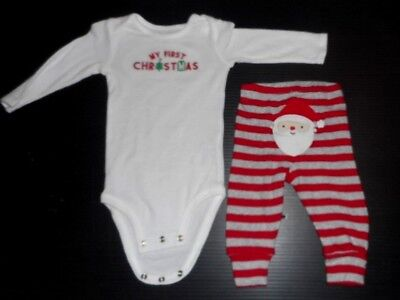 Carter's Just One You My First Christmas Bodysuit & Santa Pants size 6 month New