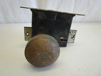 Vintage Door Knob Brass Antique Eastlake Victorian Ornate Design