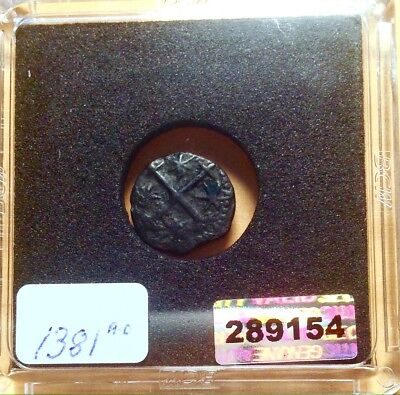 Medieval Coin Of The Count Dracula Times Of The Darkside 1381AD Great Coin!