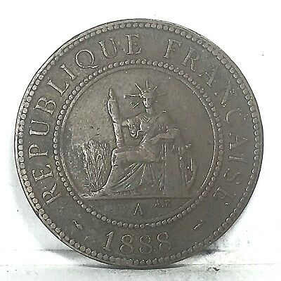 French Indochina 1 cent 1888