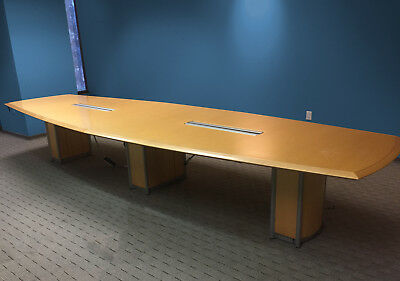Paoli Overture, Paul Downs Style Boat-Shaped 14' Boardroom Conference Table