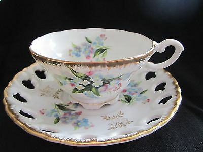 Vtg-Lefton China-20335-Hand Painted Teacup and Saucer