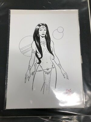 "Comic Art - Greg Moutafis - ORIGINAL ARTWORK 12""x9"" *JP"