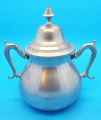 Vintage Royal Holland Pewter Daalderop Sugar Bowl with Lid - Tiel / Holland