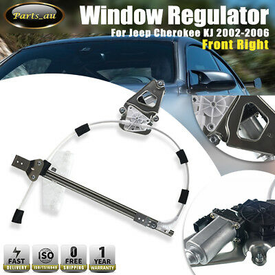 1x Front Right Window Regulator With Motor for Jeep Cherokee KJ 2002-2006