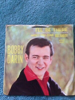 45 RPM Vinyl Record Bobby Darin I'll Be There & Won't You Come Home Bill Bailey