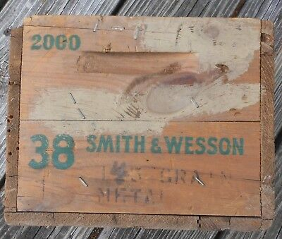 Vintage Wood Remington Ammo Case - 38 Smith & Wesson