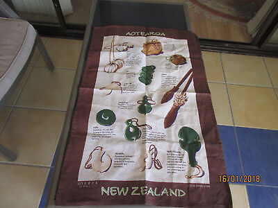Linen/cotton Tea Towel - Aotearoa - New Zealand