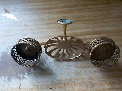 Antique Brass Soap Dish With Two Cup Holders