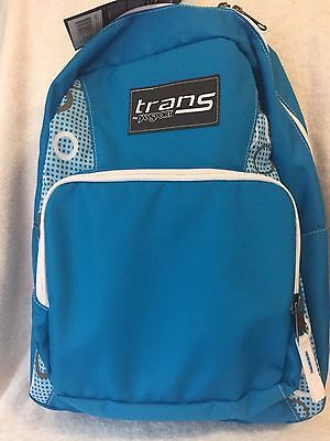 NWT Trans by Jansport Light Blue Backpack School Book Bag