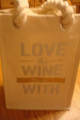 "NWT Cheers Reusable Wine Bag ""Love the Wine Your With"""