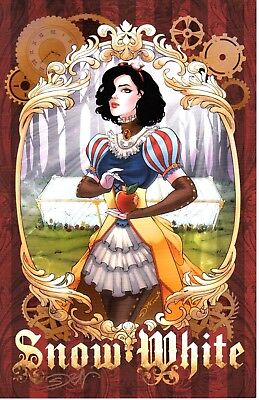 "SEXY SNOW WHITE ART PRINT- SIGNED BY ARTIST SORAH SUHNG 11""x17"""