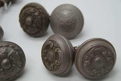 Larged Mixed Lot Antique Ornate Pressed Metal Door Knobs and Hardware Vtg